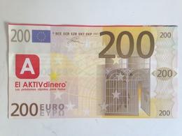 Billete 200 Euros. 2001. España. Europa. Facsimil. Sin Serie. Sin Circular - 200 Euro