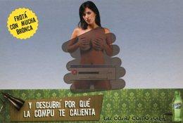 SPRITE LAS COSAS COMO SON PROMO LA COMPU TE CALIENTA 2007 POSTAL MODERNA PUBLICIDAD ARGENTINA  -LILHU - Reclame