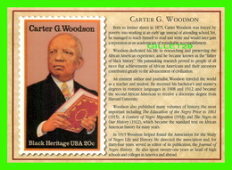 TIMBRES REPRÉSENTATIOINS - GREAT AMERICAN WRITERS, CARTER G. WOODSON (1875-1950) - STAMP ISSUE DATE,1984 - - Timbres (représentations)