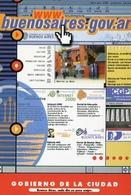 GOBIERNO DE LA CIUDAD BUENOS AIRES CADA DIA UN POCO MEJOR 2000 POSTAL MODERNA PUBLICIDAD ARGENTINA  -LILHU - Reclame