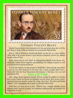 TIMBRES REPRÉSENTATIOINS - GREAT AMERICAN WRITERS, STEPHEN VINCENT BENÉT (1808-1943) - STAMP ISSUE DATE,1998 - - Timbres (représentations)
