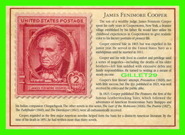 TIMBRES REPRÉSENTATIOINS - GREAT AMERICAN WRITERS, JAMES FENIMORE COOPER (1789-1851) - STAMP ISSUE DATE,1940 - - Timbres (représentations)