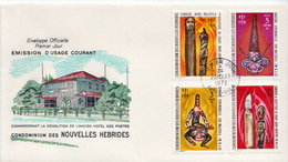 Nouvelles Hebrides / New Hebrides Culture Stamps On FDC - Cultures