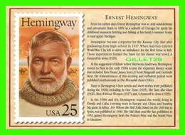 TIMBRES REPRÉSENTATIOINS - GREAT AMERICAN WRITERS, ERNEST HEMINGWAY (1899-1961) - STAMP ISSUE DATE,1989 - - Timbres (représentations)