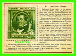 TIMBRES REPRÉSENTATIOINS - GREAT AMERICAN WRITERS, WASHINGTON IRVING (1783-1859) - STAMP ISSUE DATE,1940- - Timbres (représentations)