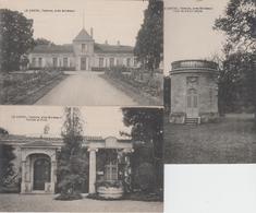 Lot De 3 CPA Talence, Près Bordeaux - Le Castel (Porche Et Puits, Tour Du XVIIIe Siècle ...) - Altri Comuni