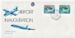 Niuafo'ou Set On FDC - Airplanes