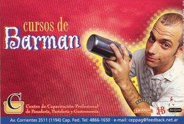 CURSO DE BARMAN MARGARIA 2000 POSTAL MODERNA PUBLICIDAD ARGENTINA  -LILHU - Reclame