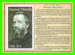 TIMBRES REPRÉSENTATIOINS - GREAT AMERICAN WRITERS, HERMAN MELVILLE (1819-1891) - STAMP ISSUE DATE,1984 - Timbres (représentations)