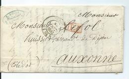 Lettre De Lyon Pour Auxonne Cote D'Or  1843 - 1801-1848: Precursors XIX