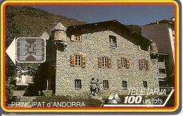 CARTE*-PUCE-ANDORRE-100U-AND16-SC5-12/93-MAISON DE LA VALLEE-V° N°9 TGE C39100546 -UTILISE-T BE - Andorre