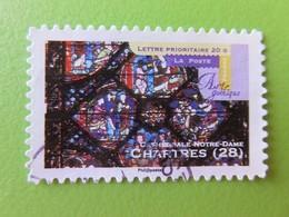 Timbre France YT 553 - Art Gothique - Cathédrale Notre-Dame à Chartres (28) - 2011 - Adhésifs (autocollants)
