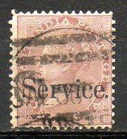 GRANDE-BRETAGNE - INDE ANGLAISE - 1866 - Service - N° 3 - 1 A. Brun - (Surcharge : Service) - (Victoria) - 1858-79 Compañia Británica Y Gobierno De La Reina