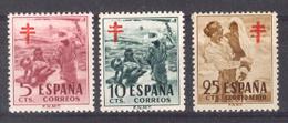 Spain 1951. Pro-tuberculosos Ed 1103-05 (**) - 1931-Today: 2nd Rep - ... Juan Carlos I
