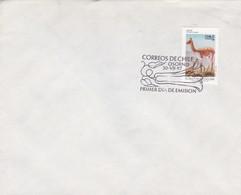 CORREOS DE CHILE, OSORNO 1987 FDC. STAMP VICUÑA VICUGNA VICUGNA, FAUNA Y FLORA CHILENA- BLEUP - Chili