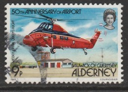 Alderney 1985 The 50th Anniversary Of Alderney Airport - Aircraft 9 P Multicoloured SW 18 O Used - Alderney