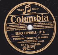 78 Trs - 25 Cm - état TB - DANZA ESPANOLA N°4 - IBERIA 5e PARTIE - ORCHESTRE SYMPHONIQUE DE MADRID - 78 T - Disques Pour Gramophone