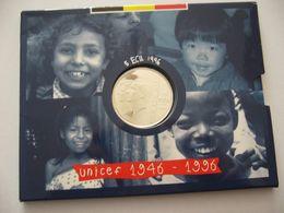 * 5 ECU 1996 Albert II Sous BLISTER *QP* Quality Proof - 50eme Anniversaire UNICEF- ARGENT PUR - 1993-...: Albert II