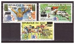 MALI 1984 Olympics Weightlifting Athletics Horseriding Used - Zomer 1984: Los Angeles