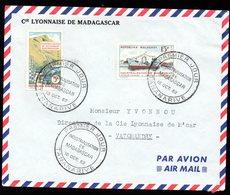 Enveloppe Cover Madagascar Premier Jour Industrialisation De Madagascar 18 10 1962 - Madagascar (1960-...)
