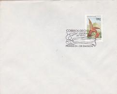 CORREOS DE CHILE, OSORNO 1987 FDC. STAMP PICAFLOR SEPHANOIDES FERNANDENSIS, FAUNA Y FLORA CHILENA- BLEUP - Hummingbirds
