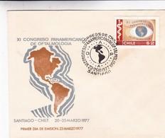 XI CONGRESO PANAMERICANO DE OFTALMOLOGIA-FDC 1977 SANTIAGO CHILE CHILI- BLEUP - Geneeskunde