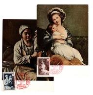 Carte Maximum 1er Jour YV 966 & 967 Croix Rouge 1953 - Cartoline Maximum