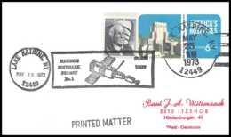 6722/ Espace (space Raumfahrt) Entier Postal (Stamped Stationery) 25/5/1973 Skylab 1 & 2 USA Lake Katrine - Lettres & Documents