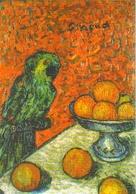 """Carte Postale """"Cart'Com"""" - Série Expositions, Salons, Musées - Musées De Marseille, Pierre Girieud, Perroquet Et Oranges - Peintures & Tableaux"""
