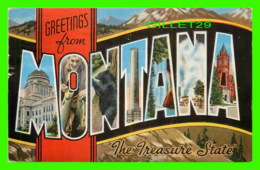GREETINGS FROM MONTANA, THE TREASURE STATE - TRAVEL IN 1951 - E. C. KROPP CO - - Souvenir De...