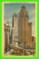CHICAGO, IL - THE TRIBUNE TOWER BUILDING - ANIMATED -  TRAVEL IN 1946 - PUB. BY GERSON BROS - - Chicago