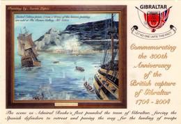 POSTAL DE GIBRALTAR, THE BRITISH CAPTURE OF GIBRALTAR 4th AUGUST 1704 (366) - Gibraltar