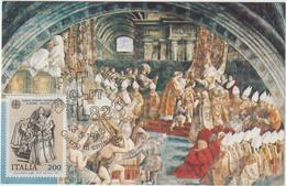 Carte-Maximum ITALIE N° Yvert 1530 (RAPHAËL) Obl Sp Ill 1er Jour (Charlemagne) - Maximum Cards