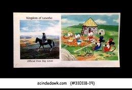 LESOTHO - 1991 DISNEY MICKEY & DONALD PLAY GAMES - MIN/SHT - FDC - Lesotho (1966-...)