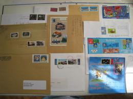 12 Lettres Affranchies Avec 2 Timbres Extraits De Carnet, Bloc, Bande Ou Série .....pour étude....à Voir - 1961-....