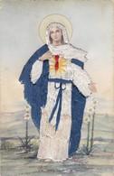 VIRGEN MARIA INMACULATE HEART OF MARY. ROMARLY. CIRCA 1920s TEJIDO - BLEUP - Maagd Maria En Madonnas