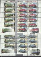 UKRAINE 2008 Mi 983klb-986klb Locomotives / Lokomotiven. First Day Stamp Harkiv / Ersttagsstempel Harkiv, Lugansk - Trains