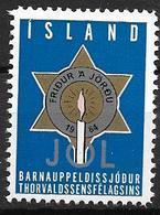 Islande 1964 Vignette De Noël Fondation Thorvalsen - Islande