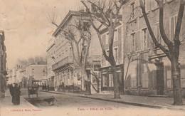 Drome : TAIN-L'HERMITAGE : Hotel De Ville  ( Chien Levant La Patte )  - Au Dos Tampon Perlé - La Motte De Galaure - Other Municipalities