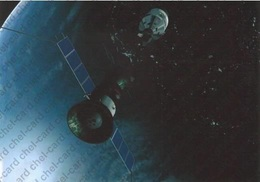"[2017, Space, Soyuz-Apollo, Astronauts] Postcard ""[Experimental Flight Of The ""Soyuz"" And ""Apollo""]"". - Rusia"