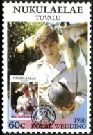 NUKULAELAE, Royalty: Royal Wedding, Used, F/VF - Tuvalu