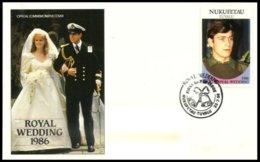 NUKUFETAU, Royalty: Royal Wedding, Used, F/VF - Tuvalu