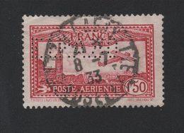 Faux Poste Aérienne N° 6d, Perforé EIPA Oblitéré - 1927-1959 Matasellados