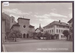 GRÖSSE 10x15cm - NETSTAL - KATH. KIRCHE - TB - GL Glarus