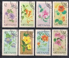 VIETNAM   1980   FIORI   YVERT 255-262   USATA   VF - Vietnam