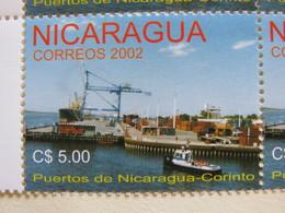 Nicaragua 2002 MINT Corinto Harbor - Ships - Cranes - Nicaragua