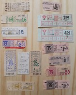 01 LOT OF 14, TICKETS OF BUS, ITALY, ISRAEL, ARGENTINE AND ODETHS. - Titres De Transport
