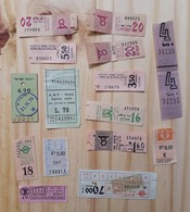 03 LOT OF 15, TICKETS OF BUS, ITALY, ISRAEL, ARGENTINE AND ODETHS. - Titres De Transport