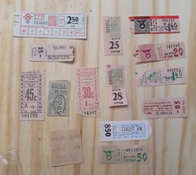 04 LOT OF 14, TICKETS OF BUS, ITALY, ISRAEL AND ODETHS. - Titres De Transport