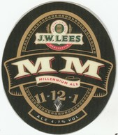 J.W.LEES BREWERY (MANCHESTER, ENGLAND) - MM MILLENNIUM ALE - LAMINATED PUMP CLIP FRONT - Signs